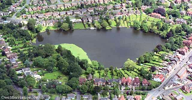 Aerial photo of Alsager Mere