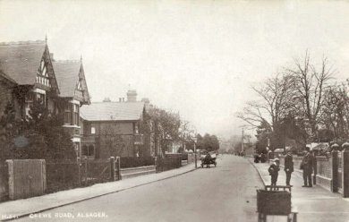 Old photo of Crewe Road circa 1910