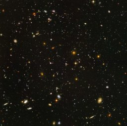 Deepfield image from Hubble space telescope