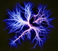 Kirlian photo of Electric Veins