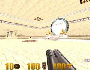 Quake 3 Gate Inside Pyramid