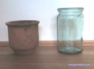 Jars, side view