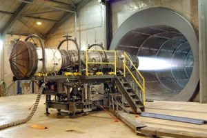 Jet Engine on Test Bed
