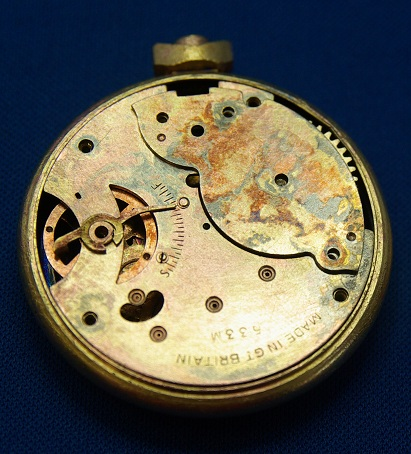 Back of Old Pocket Watch