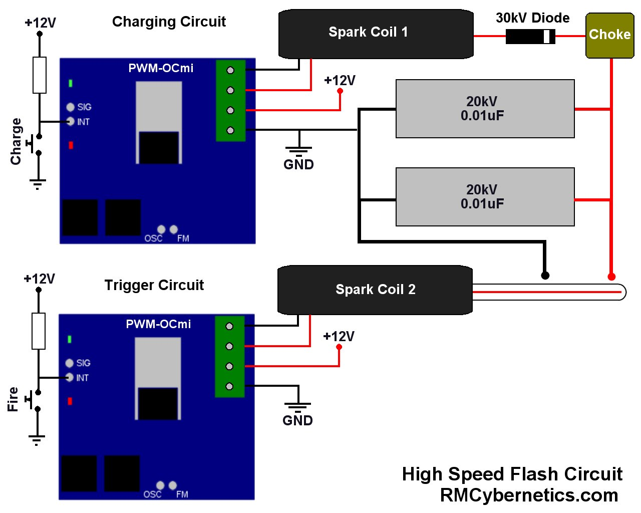 Diy High Speed Flash Schematic Custom Electronics Quality Pwm Schematics For Dummies In Addition Home Electrical Wiring Diagrams