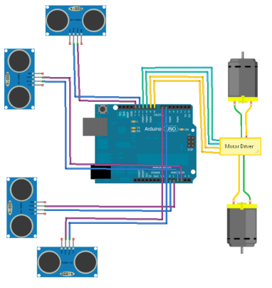 diy Robot Fritzing layout