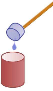 emptying the liquid