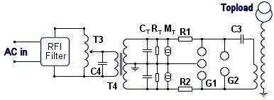 Tesla Coil SRSG Main Schematic