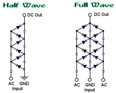 voltage multiplier schematic diagram