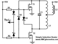 simple diy induction heater circuit rmcybernetics rh rmcybernetics com