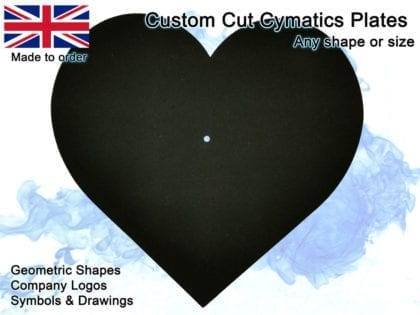 Custom cut plates for cymatics