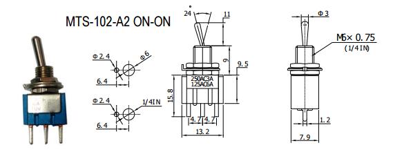 Mini Toggle Switch Spdt 6a Custom Electronics Pwm